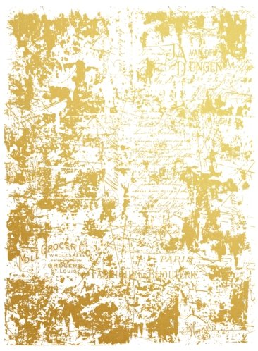 Gold Transfer - Gilded Distressed Wall