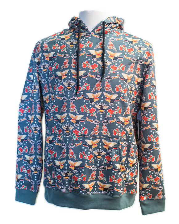 Sublimation Birds n Bees Print Hoodie - Super Massive Shop
