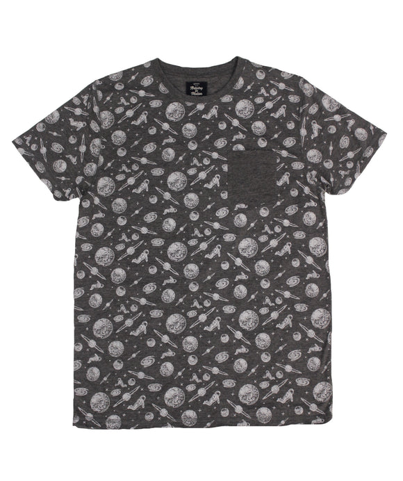 Space Print Pocket Tee - Super Massive Shop