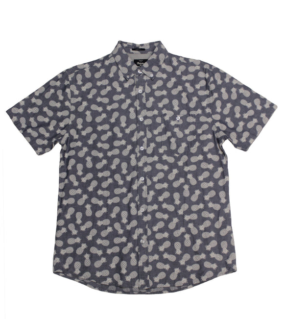 Pineapple Chambray SS Button-Down - Super Massive Shop