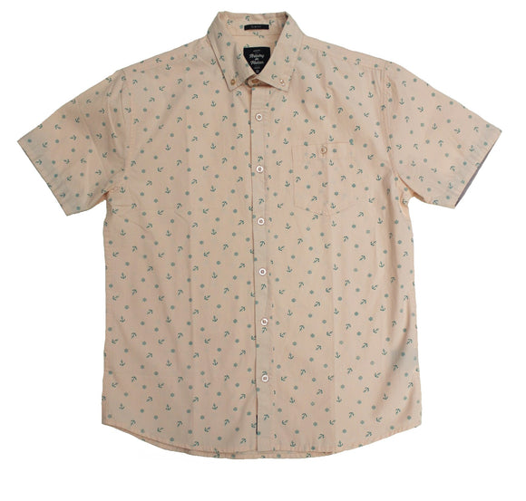 Anchor & Wheel SS Button-down - Super Massive Shop