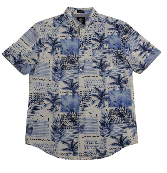 Island Mist SS Button-down - Super Massive Shop