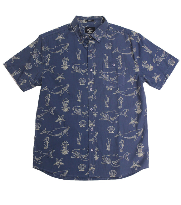 Night Sea SS Button-down - Super Massive Shop