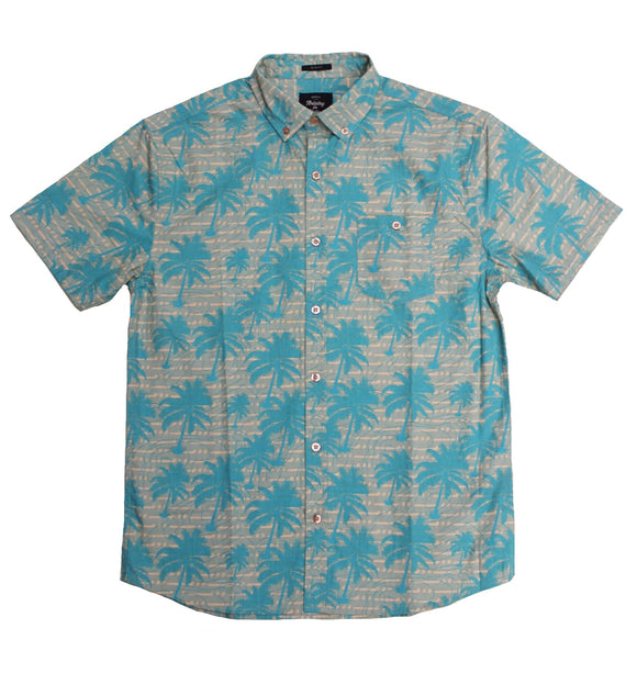 Faded Palm SS Button-down - Super Massive Shop