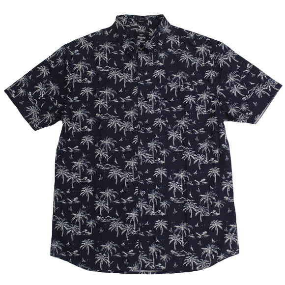 Infrared Palm SS Button-down - Super Massive Shop