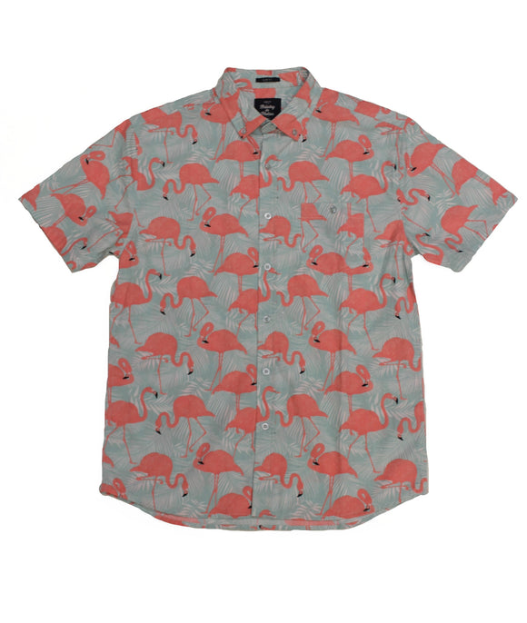 Flamingo SS Button-down - Super Massive Shop