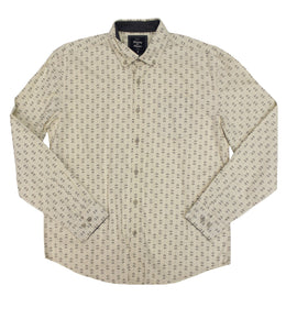 Wheat Poplin Button-down - Super Massive Shop