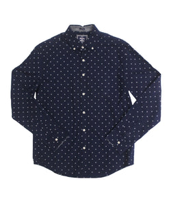 Blackberry Poplin Button-down
