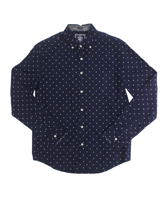 Blackberry Poplin Button-down - Super Massive Shop