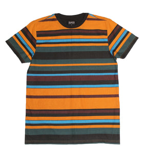 Burnt SideStripe Collar Tee - Super Massive Shop