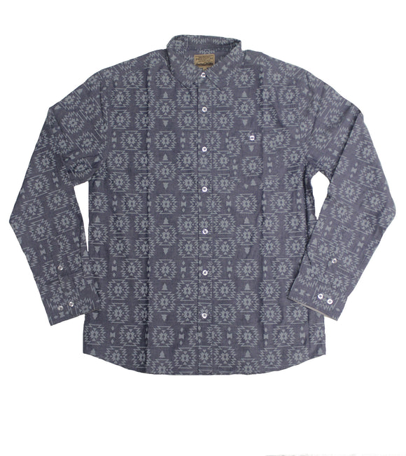 Sage Chambray LS Button-down - Super Massive Shop