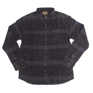 Midnight Flannel Button-down - Super Massive Shop
