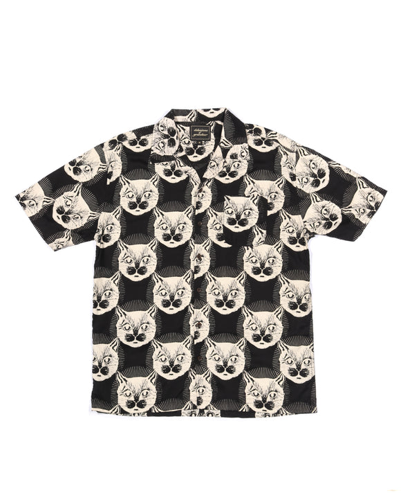 Kitty Trance SS Button-down - Super Massive Shop