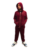 YAEZ Atlanta Velour Hoodie - Super Massive Shop