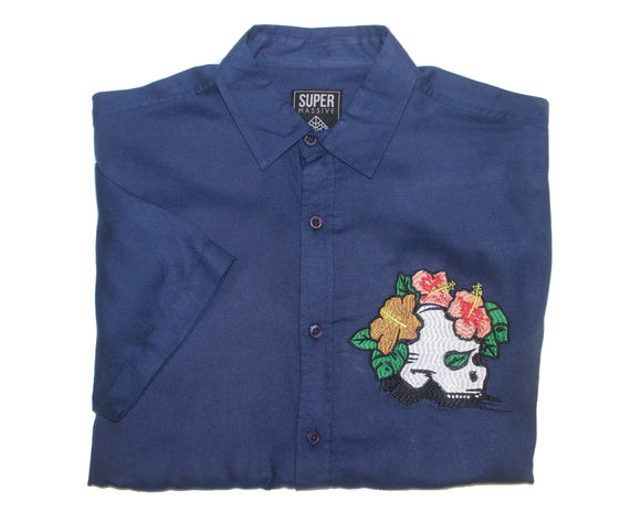 Skull Island SS Button-down - Super Massive Shop