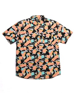 Peach Distortion SS Button-down - Super Massive Shop