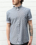 Indigo Anchor Chambray SS Button-down - Super Massive Shop