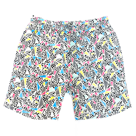 Diced Print Shorts