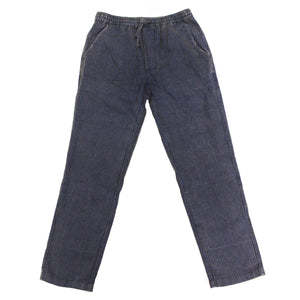 Acid Wash Pinstripe Pants Faded Blue