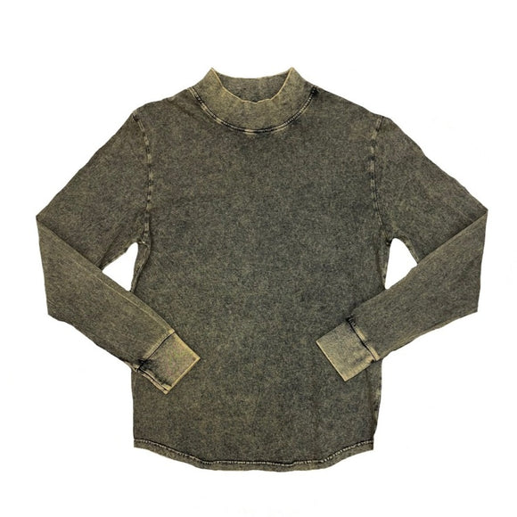 Acid Wash Mock Neck