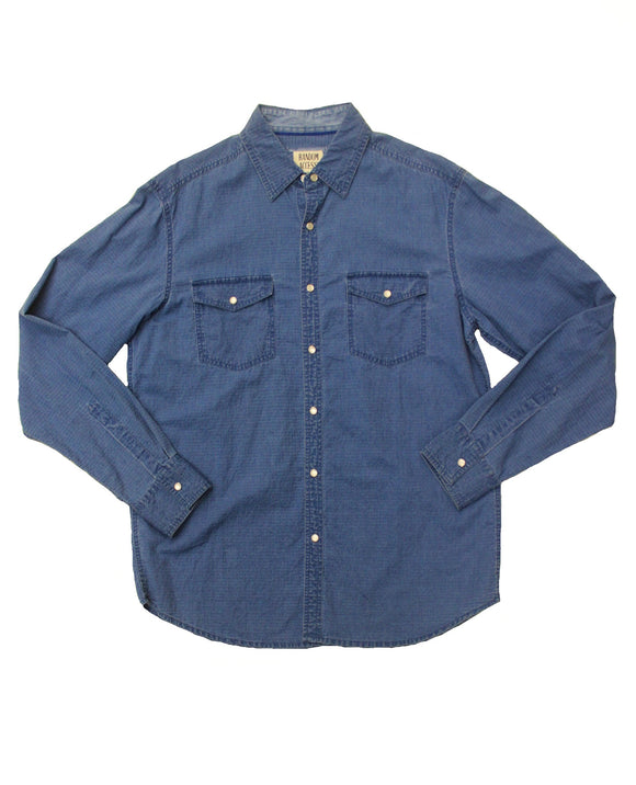 Dusted Denim Button-down - Super Massive Shop