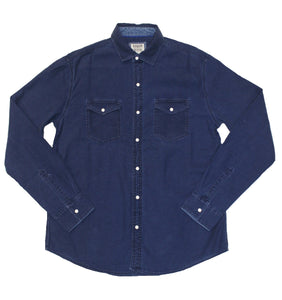 Faded Denim Button-down - Super Massive Shop