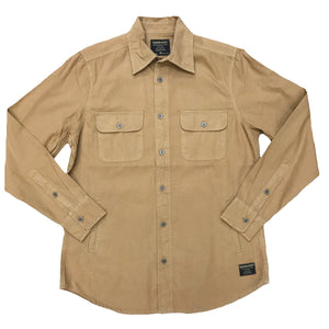 Tobacco Rustic Canvas Button-down