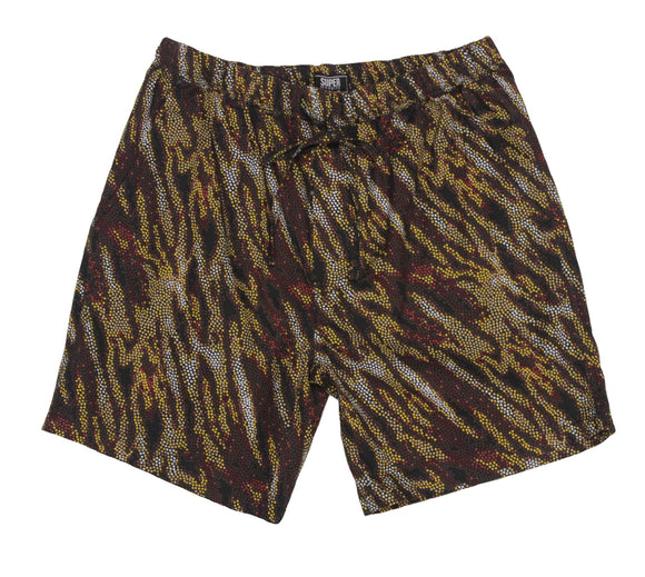 Wild Cat Print Set Shorts - Super Massive Shop