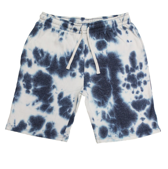 Tie-dye Fleece Shorts Indigo