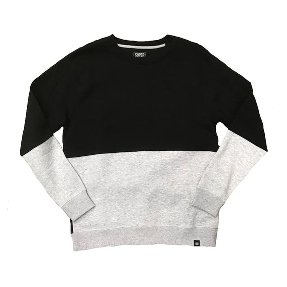 Heather Crewneck Fleece Black