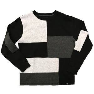 Panel Crewneck Fleece Charcoal