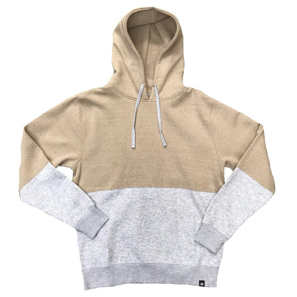 Heather Halved Hoodie Gold