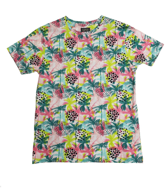 Palm Burst Print Tee - Super Massive Shop