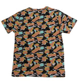 Peach Distortion SS Print Tee - Super Massive Shop