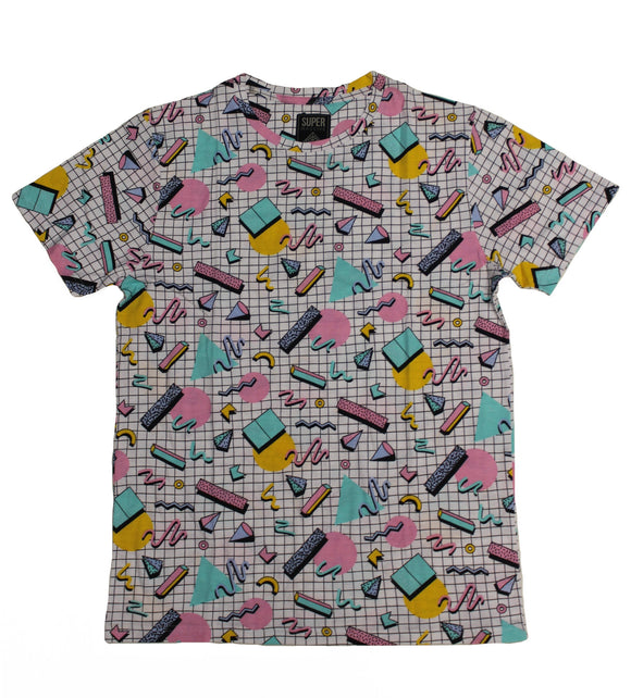 Eighties SS Print Tee - Super Massive Shop