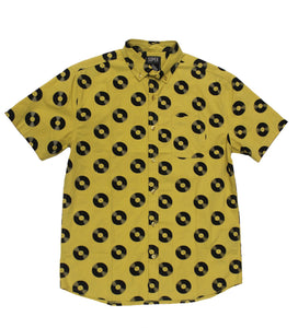 Record SS Button-down - Super Massive Shop