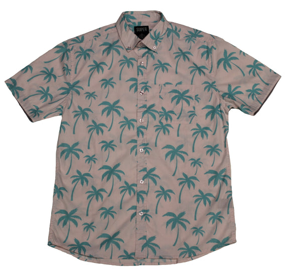Southern Palm SS Button-down - Super Massive Shop