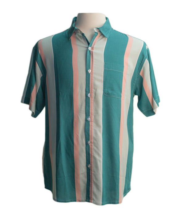 Salt Haze Stripe SS Button-down - Super Massive Shop