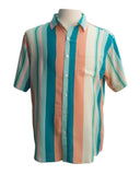 Havana Haze Stripe SS Button-down - Super Massive Shop