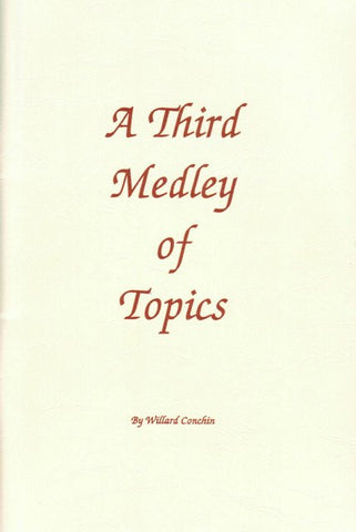 A Third Medley of Topics [Paperback] Willard Conchin