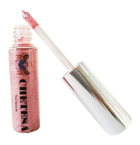 "Color Of Gems Organic Hi-Shine Lip Lacquer ""Pink Diamonds""."
