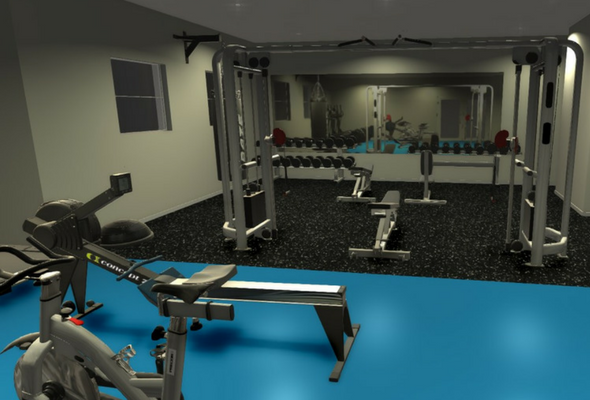 Functional Gym 3D Render