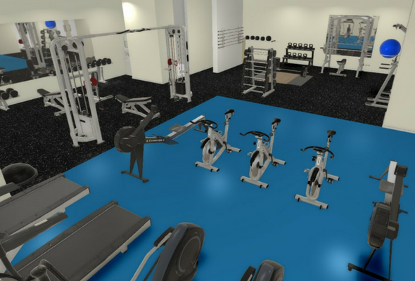 3D Render of Functional Fitness Studio
