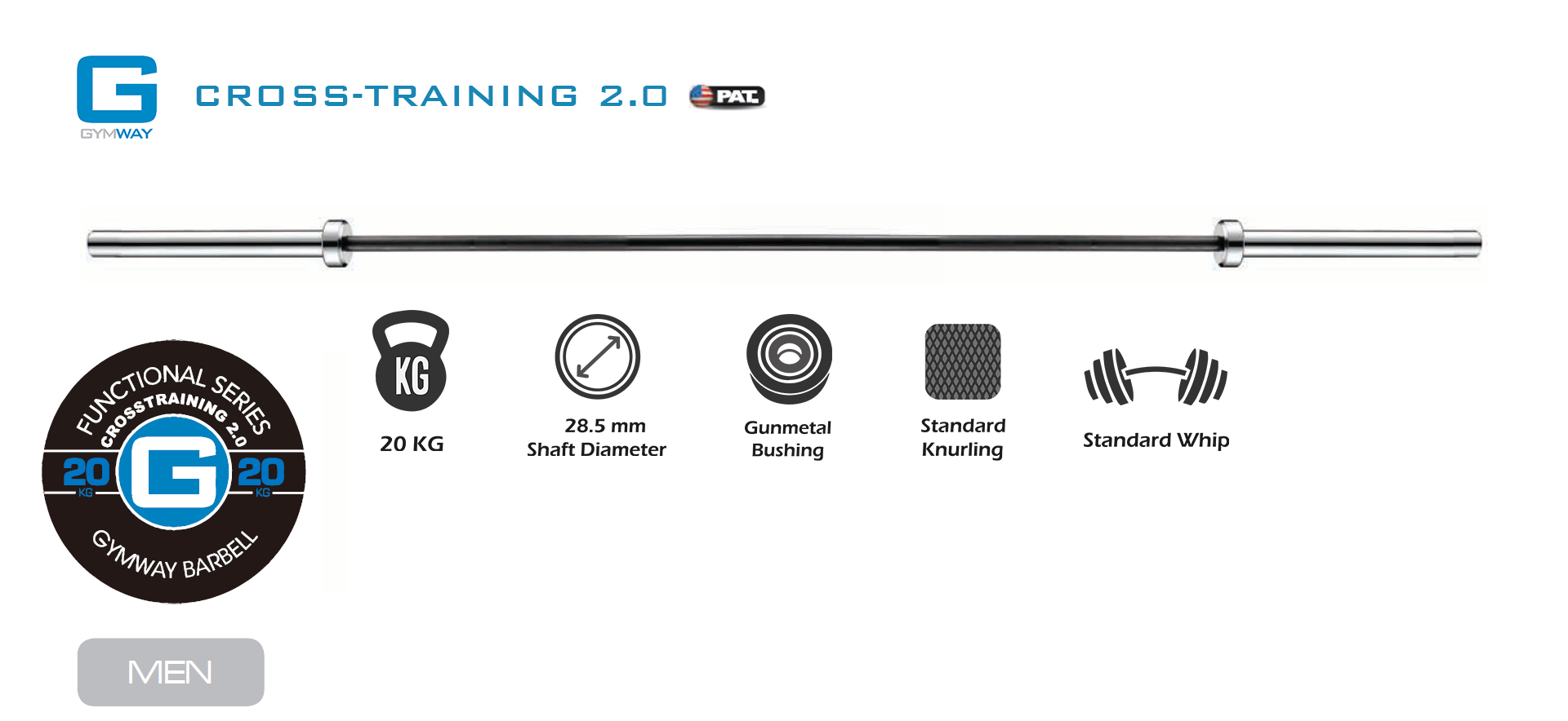 Gymway Cross-training Barbell Specs