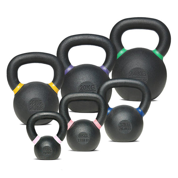 AlphaState Cast Iron Kettlebell Set