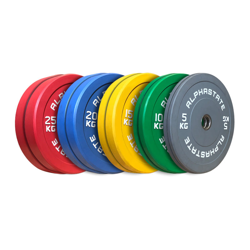 AlphaState Colour Bumper Plate Set
