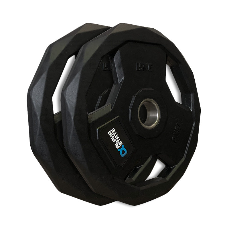 AlphaState Tri-Grip Rubber Weight Plate - Gym Concepts