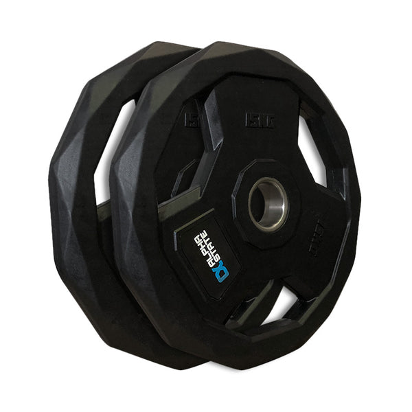 AlphaState Tri-Grip Rubber Weight Plate