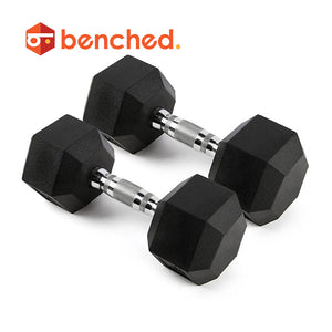 Benched Fitness Hex Rubber Dumbbell