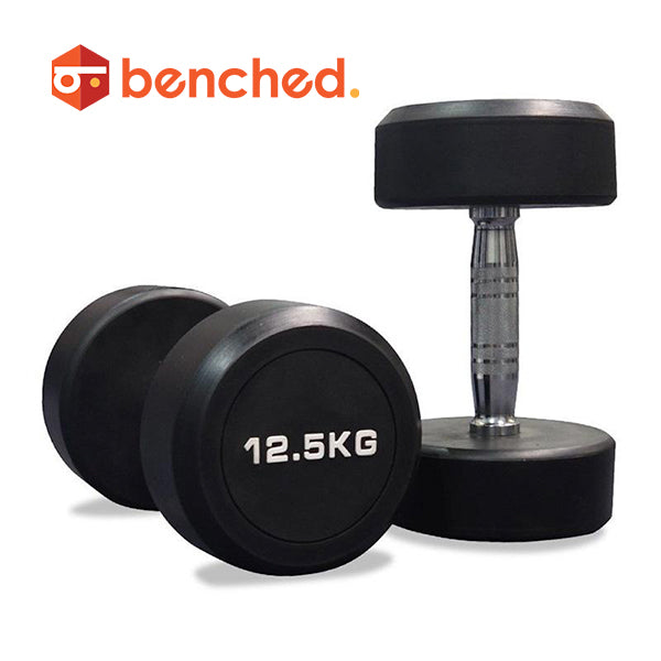 Benched Fitness Pro Rubber Dumbbell set(2.5 -30kg)